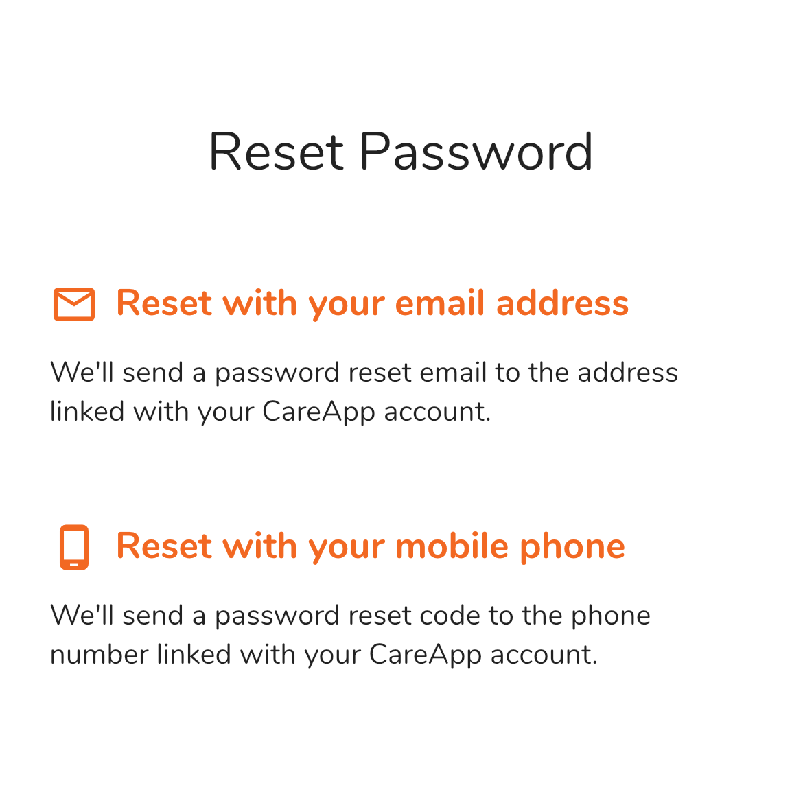 You can now reset your password with your email address or phone