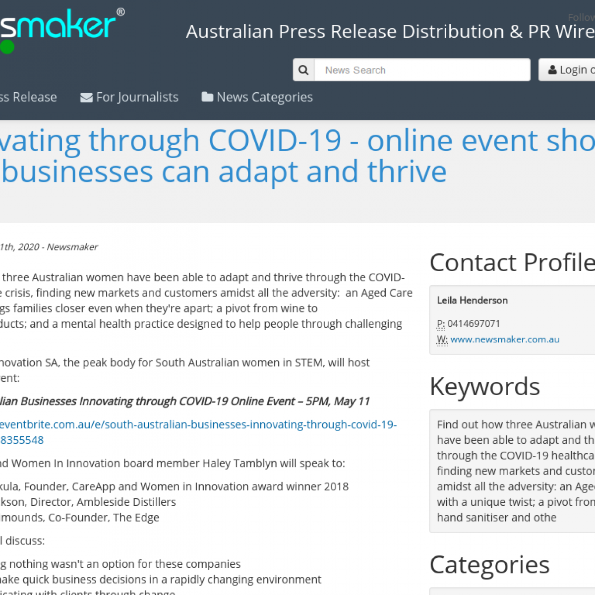 Innovating through COVID-19 - online event shows how businesses can adapt and thrive