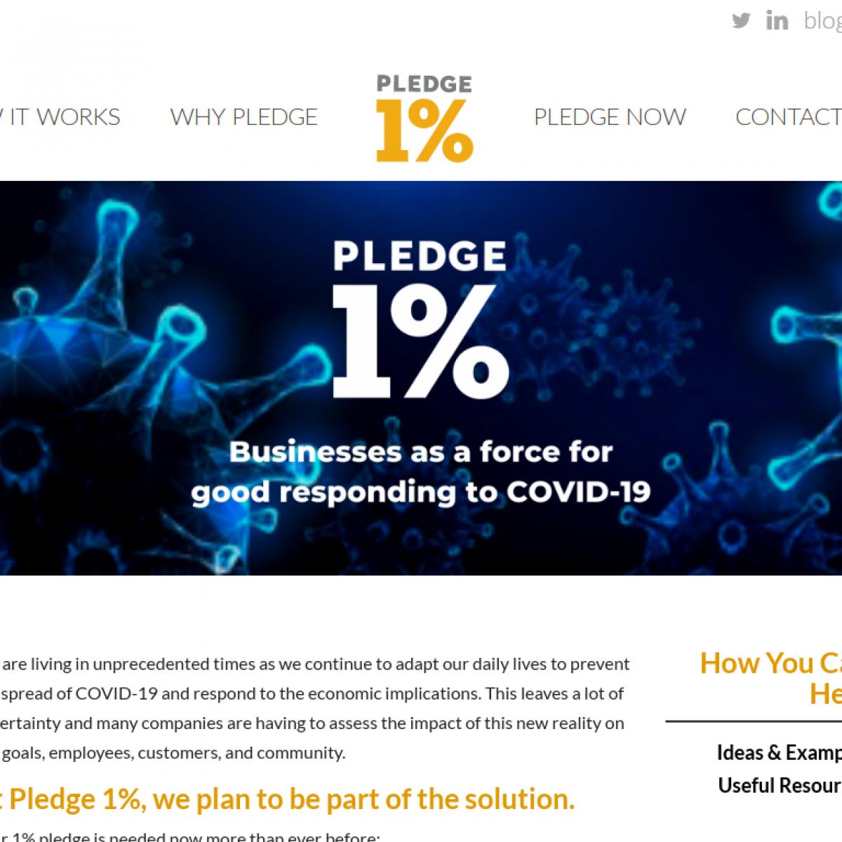 covid19 - Pledge 1%